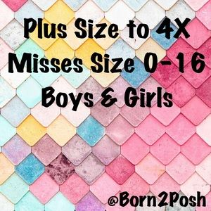 Come Shop! Sizes 0-4X!